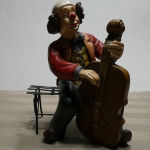 Other - CLOWN porcelain figurine - music theme Cello
